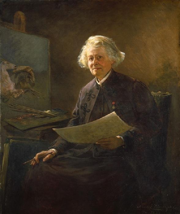 Портрет Розы Бонёр. Автор: Анна Клумпке.